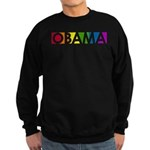 Obama Rainbow Pop Sweatshirt (dark)