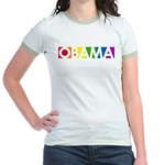 Obama Rainbow Pop Jr. Ringer T-Shirt