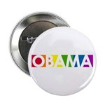 "Obama Rainbow Pop 2.25"" Button"