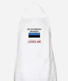 My Estonian Grandpa Loves Me BBQ Apron