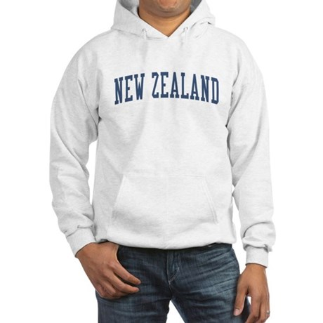 New Zealand Blue Hooded Sweatshirt