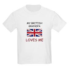 My British Grandpa Loves Me T-Shirt
