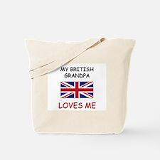 My British Grandpa Loves Me Tote Bag