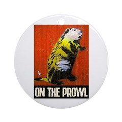 ON THE PROWL Ornament (Round)