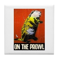 ON THE PROWL Tile Coaster