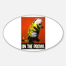 ON THE PROWL Oval Decal