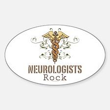 Neurologists Rock Caduceus Oval Decal