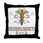 Neurologists Rock Caduceus Throw Pillow