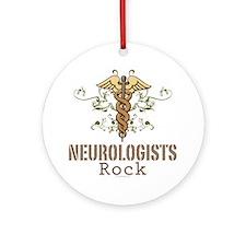 Neurologists Rock Caduceus Ornament (Round)