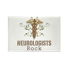 Neurologists Rock Caduceus Rectangle Magnet