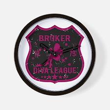 Broker Diva League Wall Clock