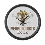 Neurologists Rock Caduceus Large Wall Clock