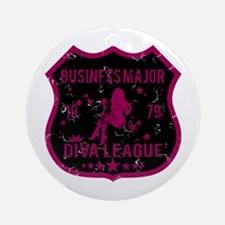 Business Major Diva League Ornament (Round)