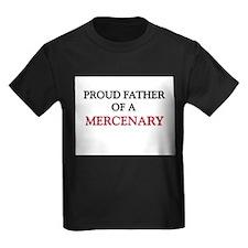 Proud Father Of A MERCENARY Kids Dark T-Shirt