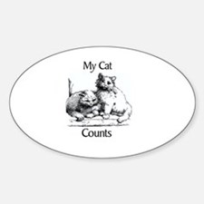 My Cat Counts Oval Decal
