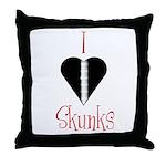 I Love Skunks Throw Pillow