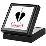 I Love Skunks Keepsake Box