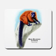 Red Ruffed Lemur Mousepad
