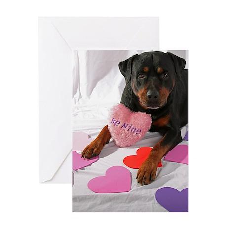 Rottie Valentine Greeting Card