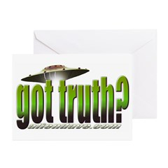 got truth? (green) Greeting Cards (Pk of 10)