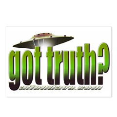 got truth? (green) Postcards (Package of 8)