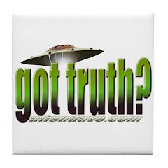 got truth? (green) Tile Coaster
