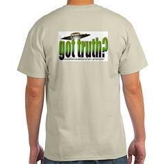 got truth? (green) Ash Grey T-Shirt