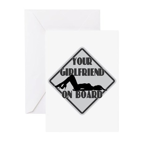 GIRLFRIEND ON BOARD Greeting Cards (Pk of 20)