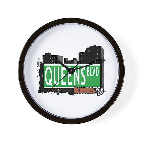 QUEENS BOULEVARD, QUEENS, NYC Wall Clock