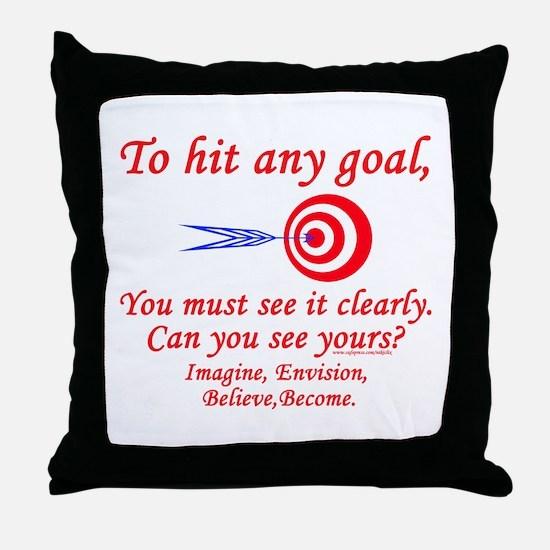 Hit Your Goal Throw Pillow