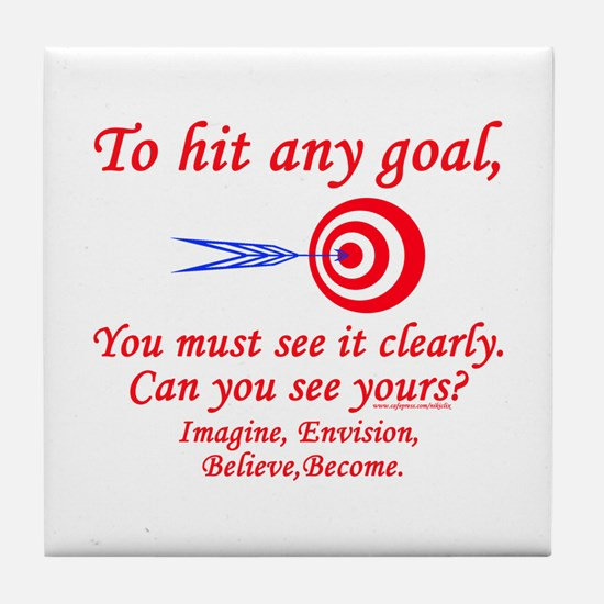 Hit Your Goal Tile Coaster