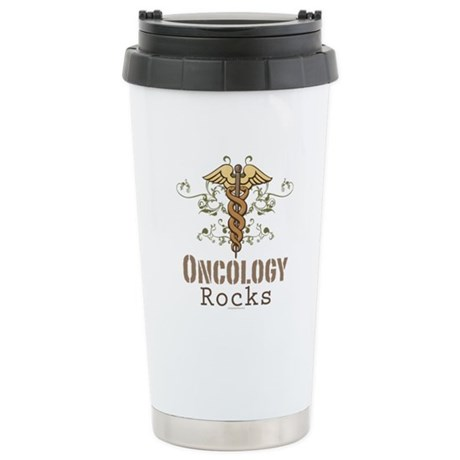 Oncology Rocks Caduceus Stainless Steel Travel Mug