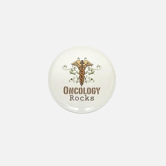 Oncology Rocks Caduceus Mini Button
