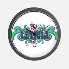 Leticia's Butterfly Name Wall Clock