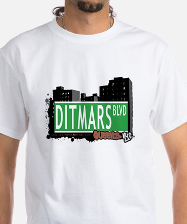 DITMARS BOULEVARD, QUEENS, NYC White T-Shirt