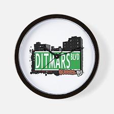 DITMARS BOULEVARD, QUEENS, NYC Wall Clock