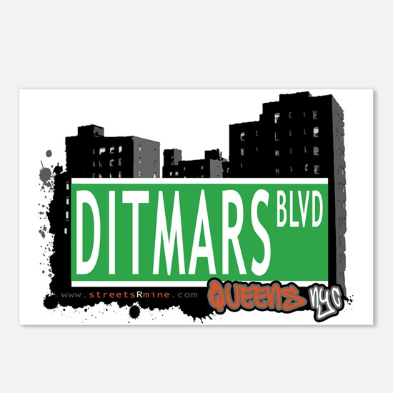 DITMARS BOULEVARD, QUEENS, NYC Postcards (Package