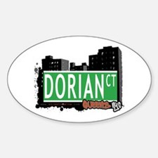 DORIAN COURT, QUEENS, NYC Oval Decal