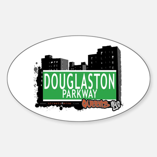 DOUGLASTON PARKWAY, QUEENS, NYC Oval Decal