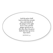 LEVITICUS 13:5 Oval Decal