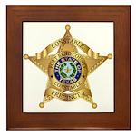Fort Bend Constable Framed Tile