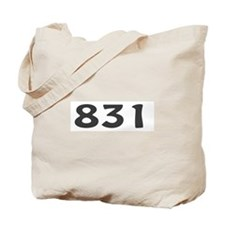 831 Area Code Tote Bag