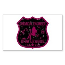 Chemical Engineer Diva League Rectangle Decal