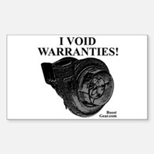 I VOID WARRANTIES - Turbo Rectangle Decal