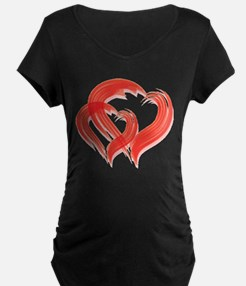 DOUBLE BRUSH-STROKE HEARTS T-Shirt
