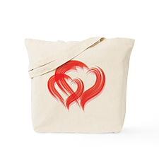 DOUBLE BRUSH-STROKE HEARTS Tote Bag