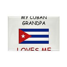 My Cuban Grandpa Loves Me Rectangle Magnet
