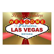 Las Vegas Happy Holidays Postcards (Package of 8)