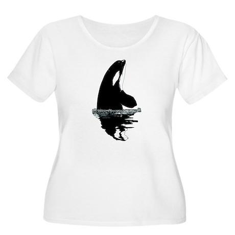 Orca Killer Whale Women's Plus Size Scoop Neck T-S