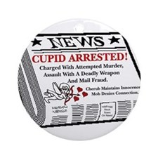 oddFrogg Cupid Arrested Ornament (Round)
